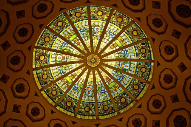 Stained glass dome of Rotunda