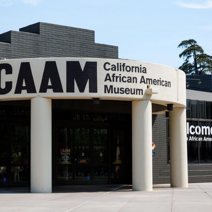 california african american museum entrance facade