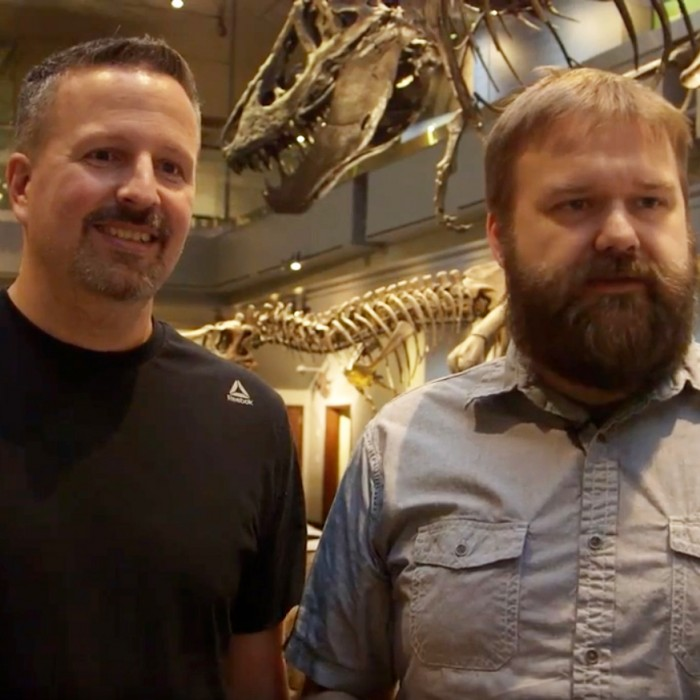 Dino inspirations with Robert Kirkman and Jason Howard