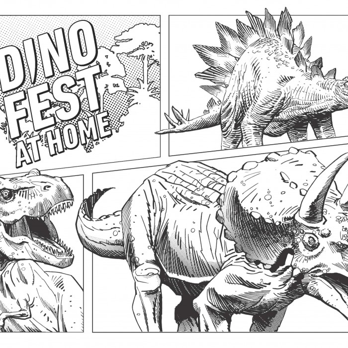 dino fest coloring page 2020