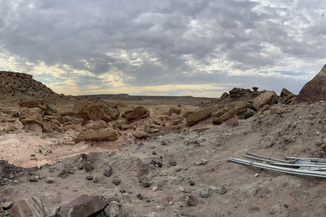 Landscape of a quarry in utah