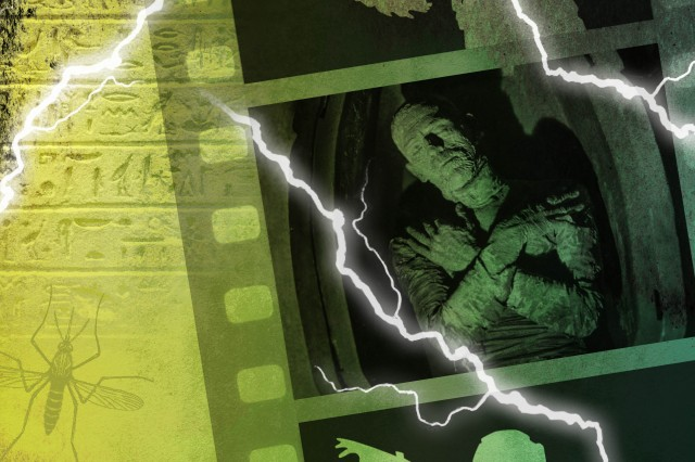 Key art for Fright Nights: The Mummy film