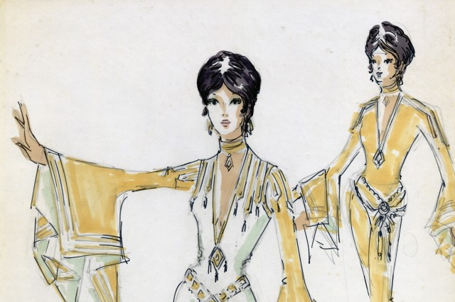 Sketch of Supremes Costumes