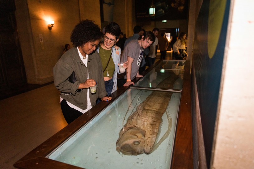 guests oarfish exhibit