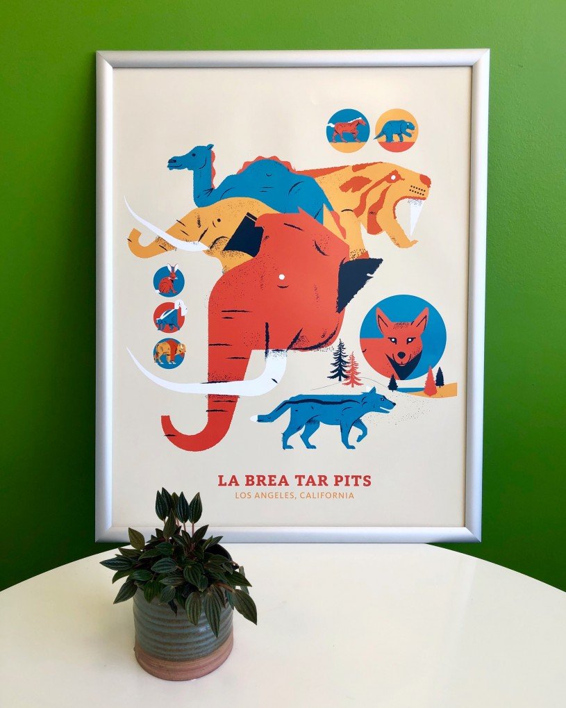 Tar Pits poster Gift Guide
