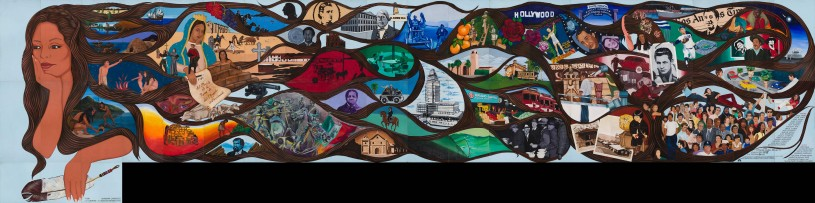 Full view of LA History: A Mexican Perspective - Mural by Barbara Carrasco