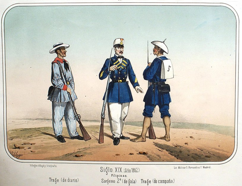 Philippine military uniforms, 1862
