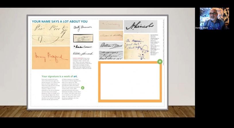 D. Black Presentation Image Signature
