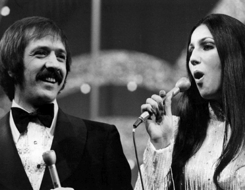 Photo of Sonny and Cher from the television special