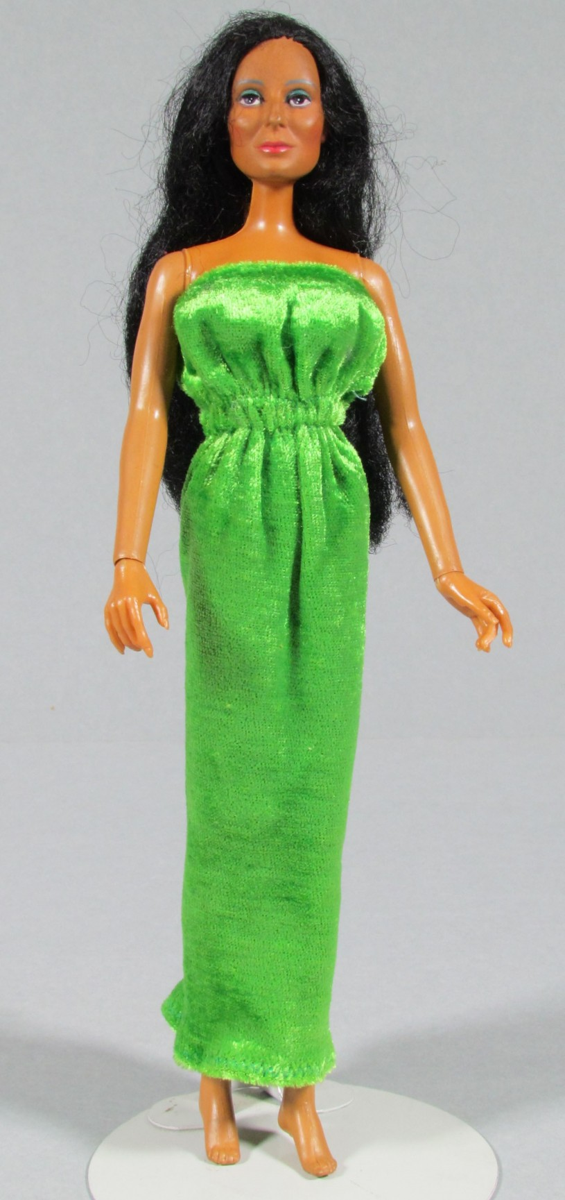 Cher doll in green dress