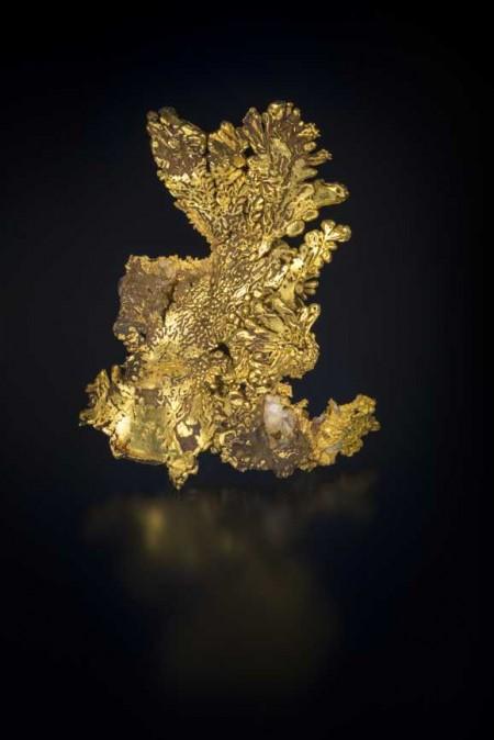 gold specimen in gem and mineral hall