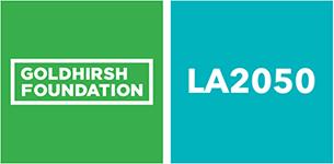sponsor logos for goldhirsh foundation and LA 2050